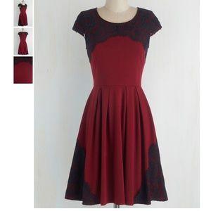 EUC Intermission Impossible Dress in Burgundy in L
